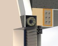 Venkovní rolety: Podomitková schránka pro venkovní roletu - řez detailu schránky